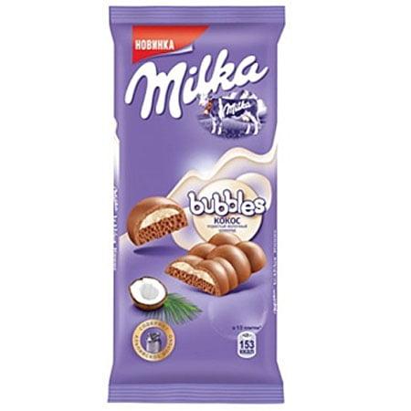 Шоколад Милка Бабл молочный кокос 97г.