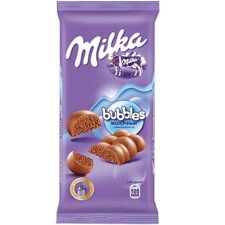 Шоколад Милка Бабл молочный 80г.