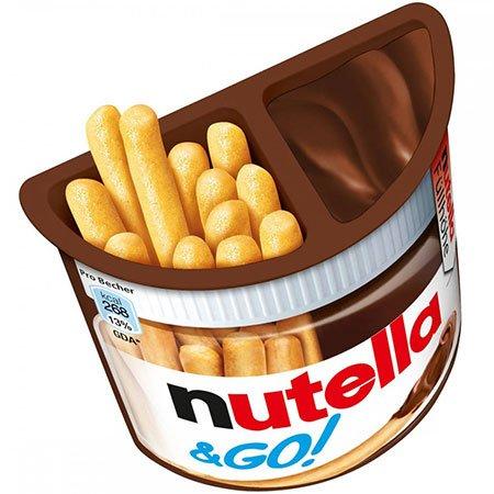 Паста Нутелла Шоколадная + хлебные палочки 52 г.