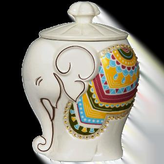 Чай Хилтоп Керамическая чайница Слоник + Чай Подарок Цейлона