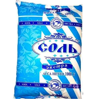Соль Экстра Мозырьсоль Полесье, 1 кг.