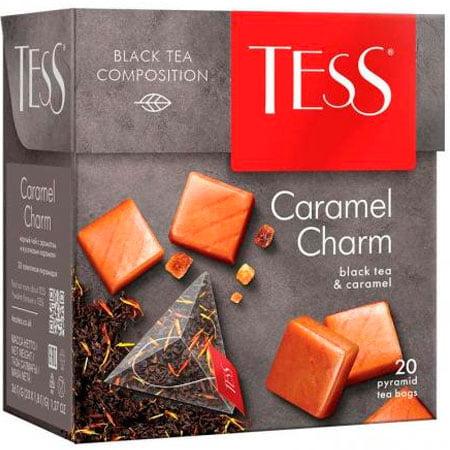 Чай Тесс (Tess) Карамель Шарм чёрный 20 пирамидок