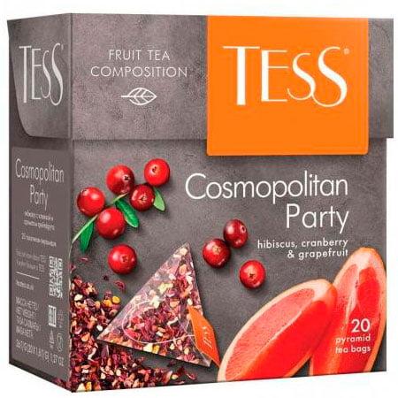 Чай Тесс (Tess) Космополитан Пати травяной 20 пирамидок