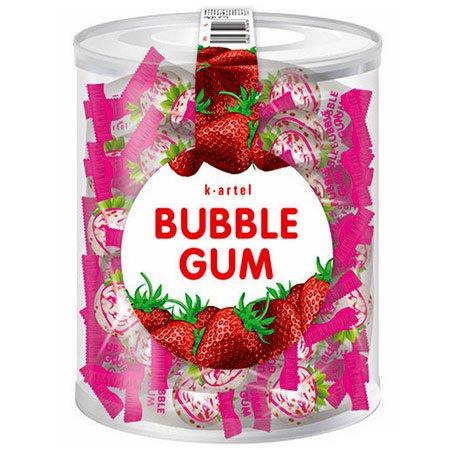 Жевательная резинка Bubble Gum Клубника 50шт/банка