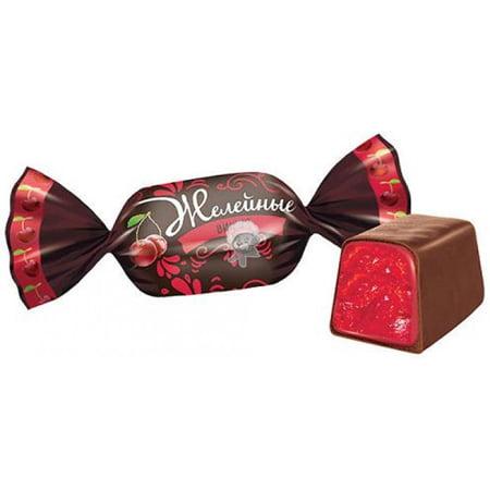 Жевательные конфеты Желейные со вкусом вишни 1кг.