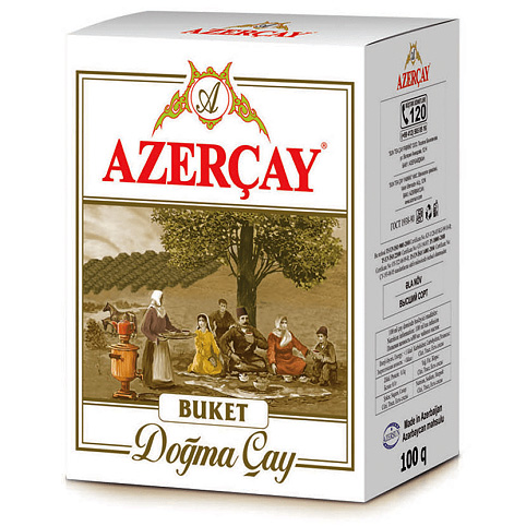 Чай Азерчай черный байховый Букет 200 гр.