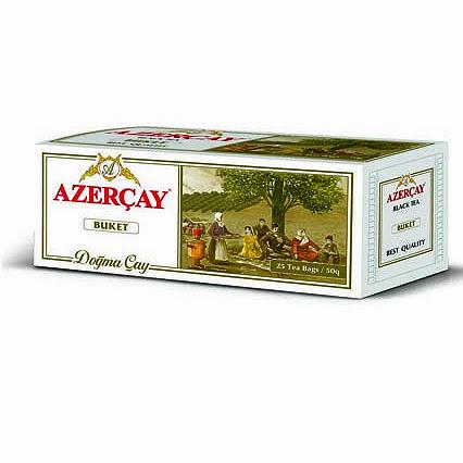 Чай Азерчай черный байховый Букет 25 пакетиков