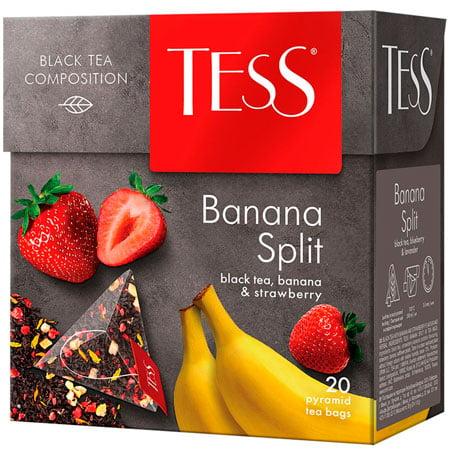 Чай Тесс (Tess) Банана Сплит чёрный байховый 20 пирамидок