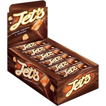 Шоколадный батончик JET's печенье/карамель 42 гр