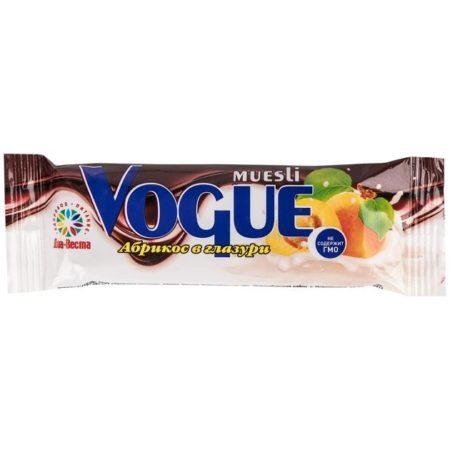 """Диа-Веста Батончик """"Vogue"""" мюсли абрикос в глазури 37г/20шт"""