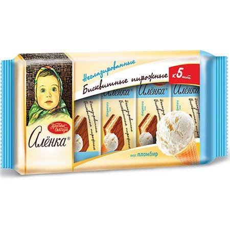 Пирожное бисквитное Аленка со вкусом пломбира, 175 гр.