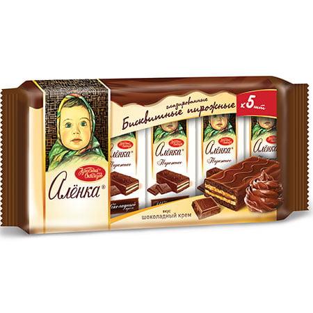 Пирожное бисквитное Аленка шоколадный крем, 200 гр.