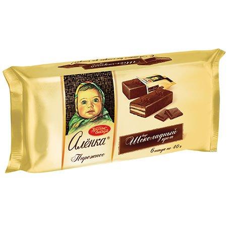 Пирожное бисквитное Аленка шоколадный крем, 240 гр.