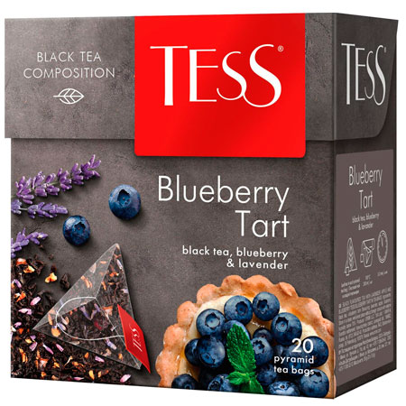 Чай Тесс (Tess) Блюберри Тарт чёрный 20 пирамидок
