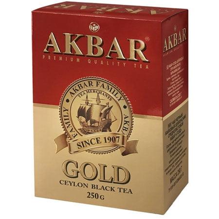 Чай Акбар Золотой черный листовой чай, 250 г