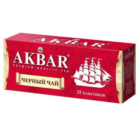 Чай Акбар Корабль черный чай 25 пак. с/я