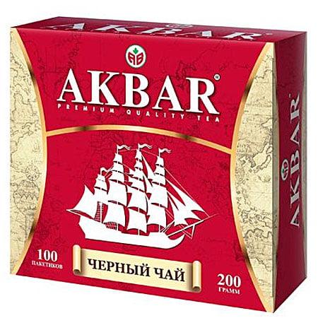 Чай Акбар Корабль черный чай 100 пак. с/я