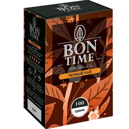 Чай Бонтайм (Bontime) черный индийский 100 гр. картон