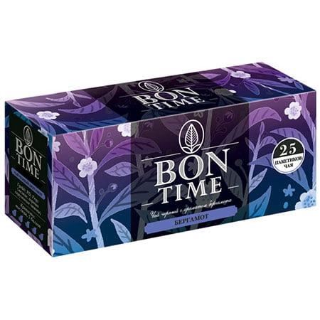 Чай Бонтайм (Bontime) чёрный с ароматом бергамота 25пак с/я