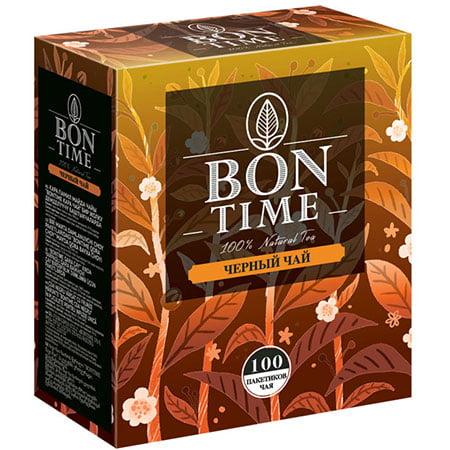 Чай Бонтайм (Bontime) черный индийский 100 пак с/я