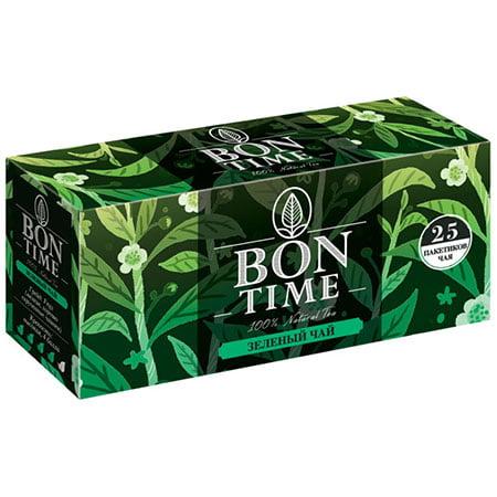 Чай Бонтайм (Bontime) зелёный 25 пак с/я