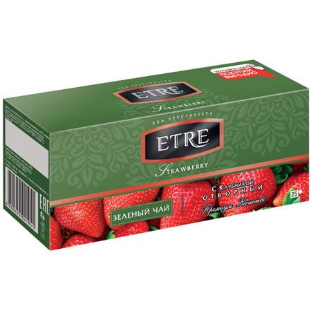 Чай Этре (Etre) зеленый с клубникой 25 пак.