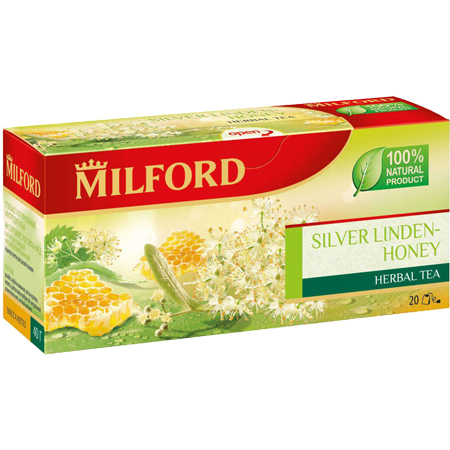 Чайный напиток Милфорд (Milford) Серебристая липа-мёд 1,5г х 20пак