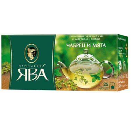 Чай Принцесса Ява зеленый чабрец/мята 25 пак.