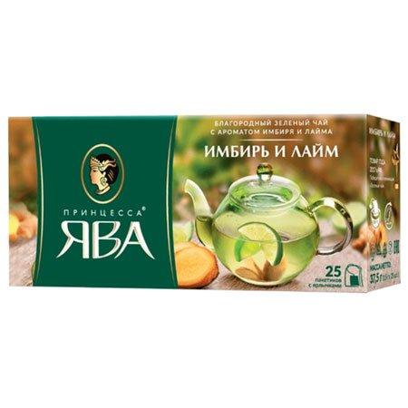 Чай Принцесса Ява зеленый Имбирь/Лайм 25 пак.