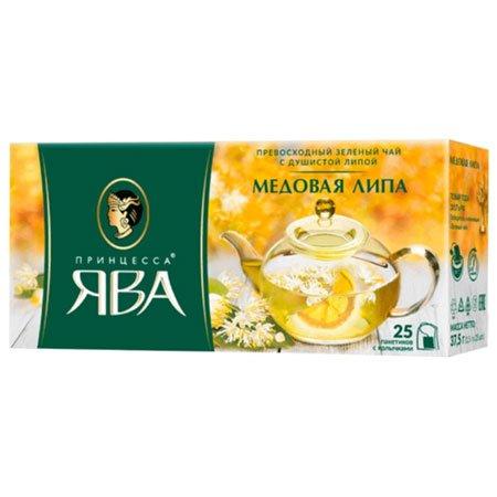 Чай Принцесса Ява зеленый Медовая липа 25 пак.