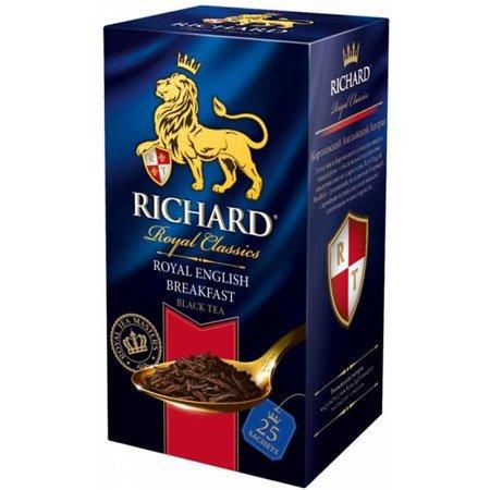 Чай Ричард чёрный Английский Завтрак, 25 пакетиков