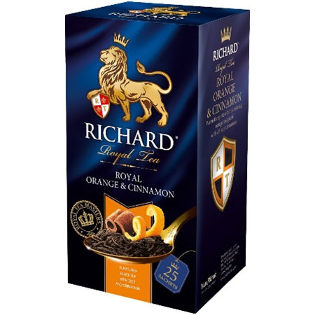Чай Ричард Роял черный бергамот и цитрус, 25 пакетиков