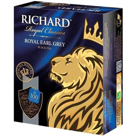 Чай Ричард Эрл Грей (бергамот), 100 пакетиков