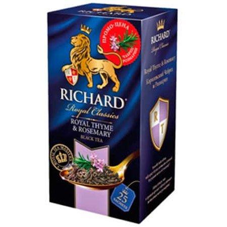 Чай Ричард черный чабрец и розмарин, 25 пакетиков