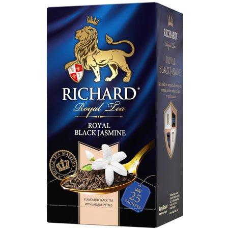 Чай Ричард черный с жасмином, 25 пакетиков