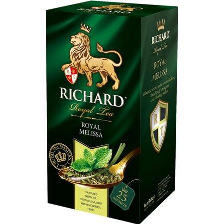 Чай Ричард зелёный с мелиссой Роял, 25 пакетиков