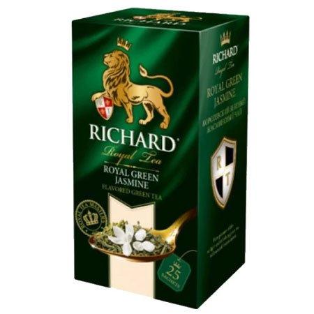 Чай Ричард зелёный с жасмином Роял Грин, 25 пакетиков