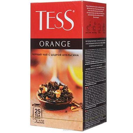 Чай Тесс (Tess) Оранж черный 25 пакетиков