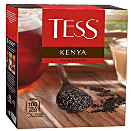 Чай Тесс (Tess) Кения 100 пакетов с ярлычками