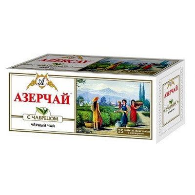 Чай Азерчай черный байховый с Чабрецом 25 пакетиков