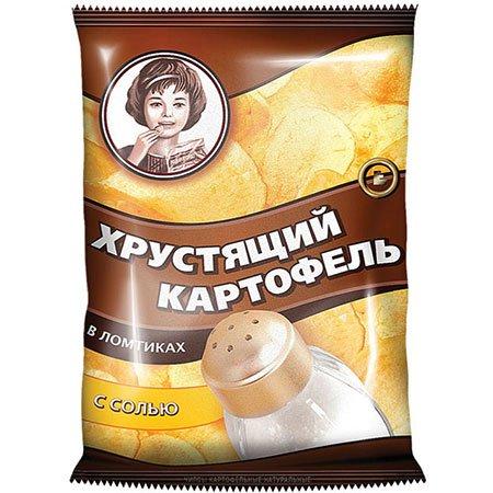"""Чипсы """"Хрустящий картофель"""" в ломтиках, с солью 70 гр."""