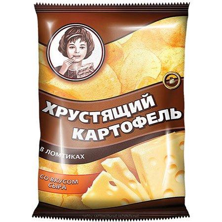 """Чипсы """"Хрустящий картофель"""" в ломтиках, с сыром 160 гр."""