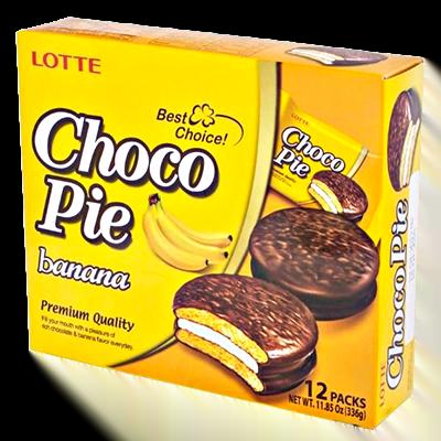 Лотте Чоко Пай Банан 28 гр. 12шт.