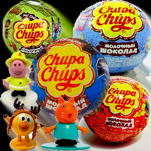 Чупа Чупс Новый год Шоколадные шары с сюрпризом-игрушкой