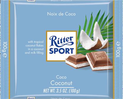 Шоколад Риттер Спорт Кокос