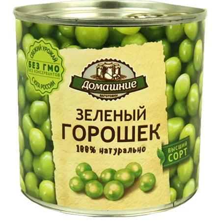 «Домашние заготовки» зелёный горошек консервированный, 400 г.