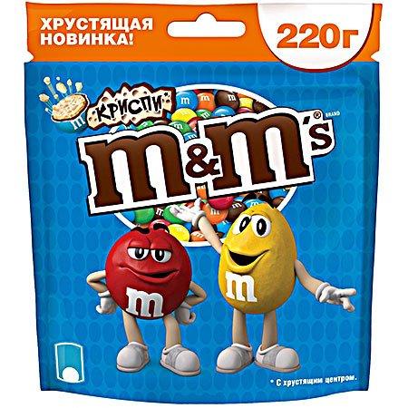 Драже М&Мs (Эм-энд-Эмс) криспи 220гр.