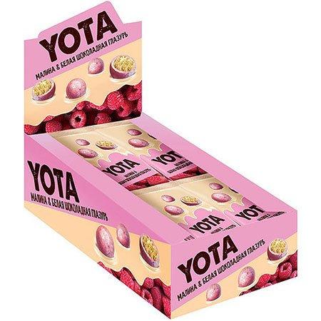 «Йота» Драже в белой шоколадной глазури с малиной, 40 г
