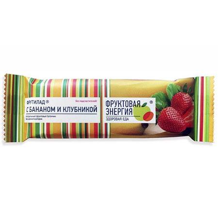 Фрутилад Батончик фруктовый банан-клубника, 30г/24шт