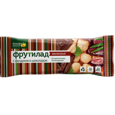 Фрутилад Батончик финиковый с фундуком и шоколадом 42г/20шт